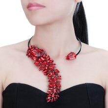 Женская цепочка с подвеской jerollin 6 цветов колье чокер кристаллами