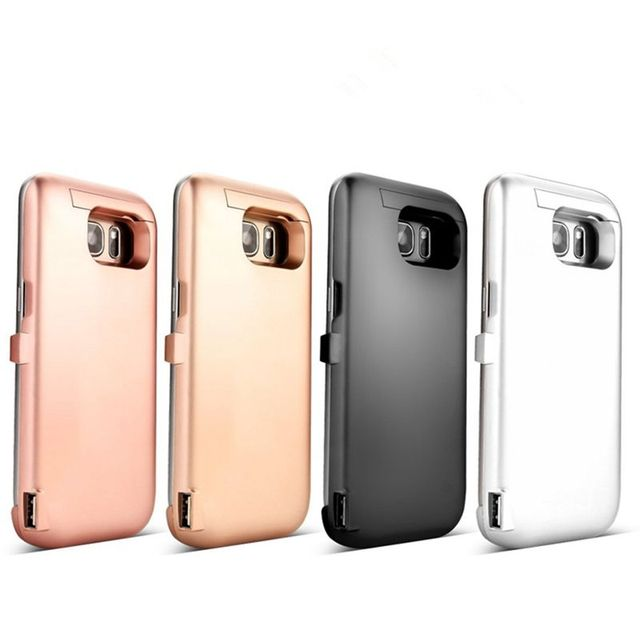 Nueva 6500 mah cargador de batería externa para samsung galaxy s7 s7 edge portable externo de copia de seguridad del banco de la energía del teléfono móvil