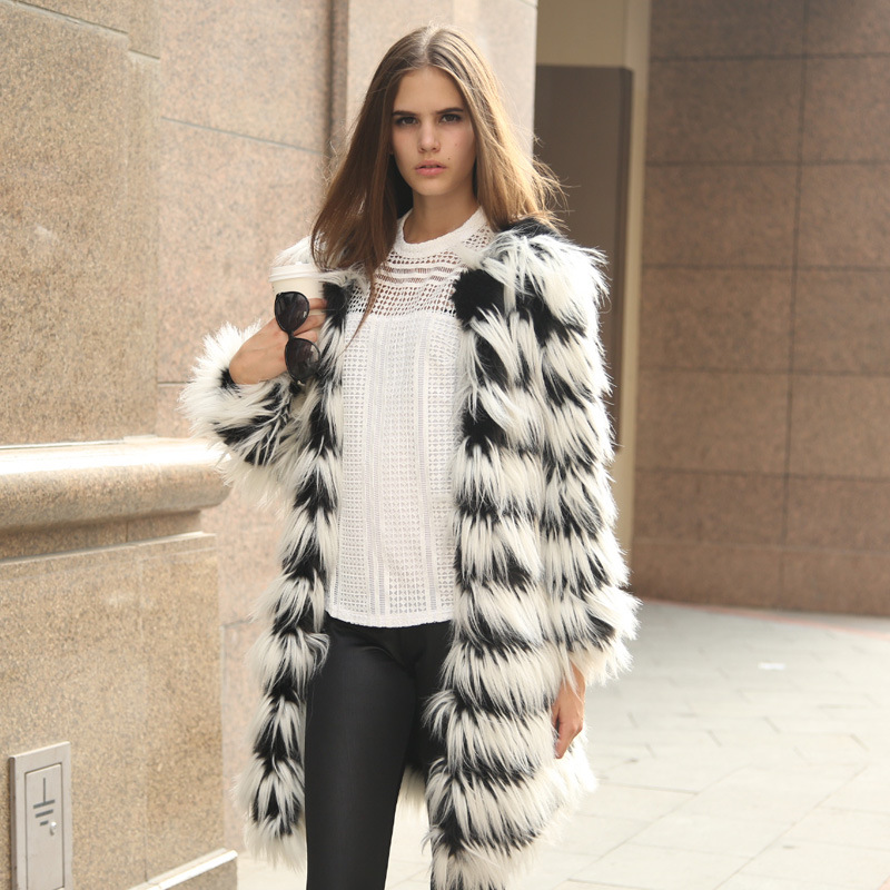 Collection Faux Fur Jacket Womens Pictures - Reikian