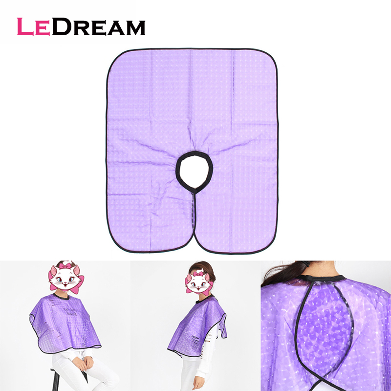 Barbershop Waterproof Transparent Hair Cutting Dye Shampoo Cloth Cape Shawl Marcel Thickening Tools Hairdressing Apron image