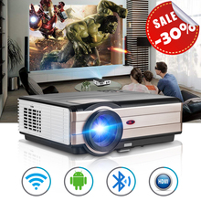 CAIWEI WiFi Wireless Video Projector Bluetooth LED LCD Android 6.0 Projectors Outdoor HD 1080P with HDMI USB TV Speaker