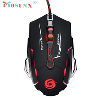 Wired USB Laser LED Light Gaming Mouse Top Quality 4000DPI 7 Butttons Metal Mice For Laptop