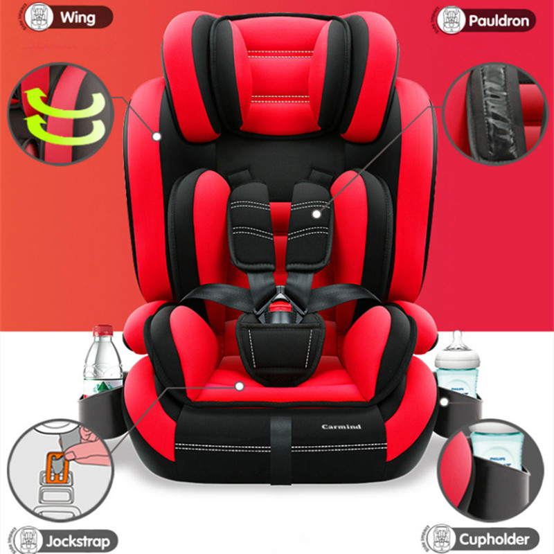 Child Car Safety Seat With Cup Holder Isofix Soft Interface Seats For 1 12 Years Old And 9 36KG Simple Universal Armchair In From