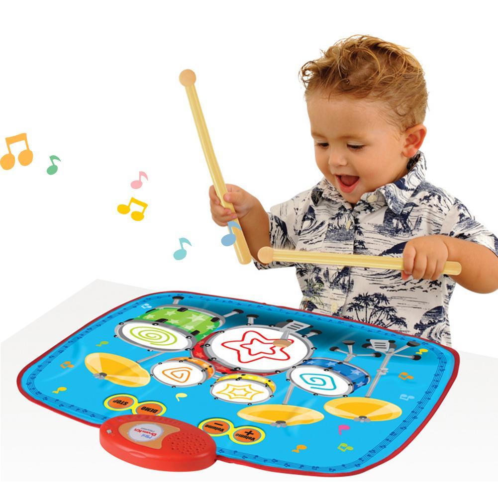 Musical Jazz tambour Mat Jazz tambour musique couverture tapis éducatif jouet pour bébé batterie musique couverture jouets éducation précoce cadeaux garçon