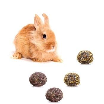 Pet Feeding Snacks Ball Hamsters Rabbit Chinchilla Snacks Molars Flower Balls Pets Toys Healthy Safe Edible Treating