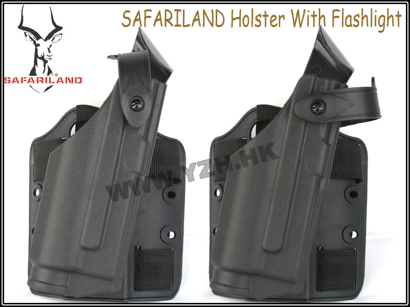 SAFARILAND gun Holster With Flashlight[Deluxe version] GLOCK gun holster emerson safariland tactical dropleg holster for beretta m92 airsoft with flashlight holster bd2293