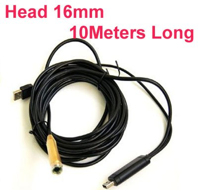 10 meter,Waterproof,15mm diameter,USB Endoscope Camera,High Resolution with 1/6 CMOS camera,industrial checking camera