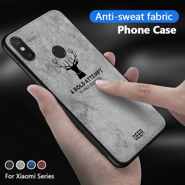 Ciervo teléfono caso para Xiaomi Pocophone F1 para Xiaomi mi 9 8 6 5 Max 3 2 Max3 mi 8 mi 6 mi 5 Me pequeño F 1 caso cubierta de tela de note7