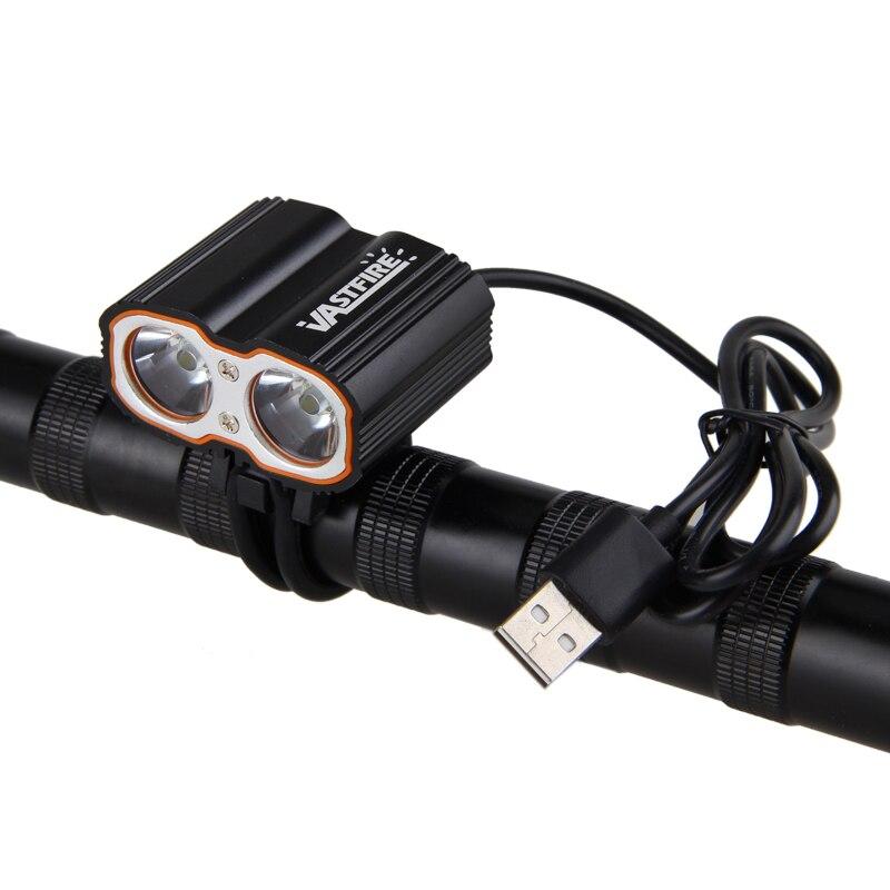2 in 1 Bike Light Headlamp 8000LM 2X XM-L T6 LED Front Bike Headlight USB 5V Bicycle Lamp with Headband and 6400mAh Battery Pack newest usb 8000 lumens flashlight led cree xm t6 l2 front torch bicycle light lamp with usb charger bike clip