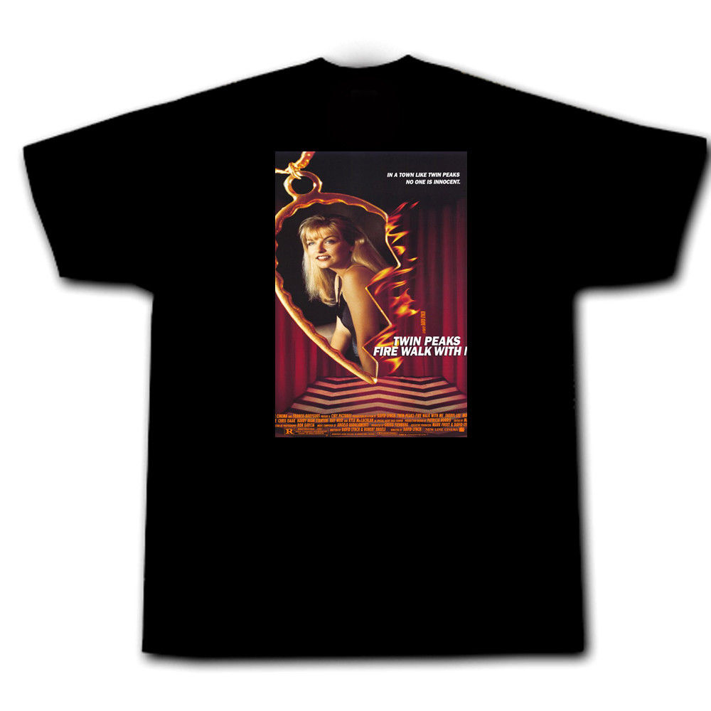 Twin Peaks Fire Walk With Me Laura Palmer Agent Cooper FBI Bob Black Lodge Cool Casual Sleeves Cotton T-Shirt Fashion