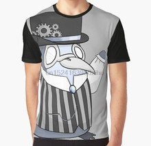 All Over Stampa T Shirt Uomo Divertente tshirt Mr Dewey il Penquin Graphic T-Shirt(China)