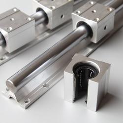 2 sztuk SBR20 20mm 800mm wsparcie liniowe szyna prowadząca + 4 sztuk SBR20UU łożysko liniowe slajdów bloki CNC części routera