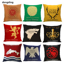 1 pcs Pillow Cover Game of Thrones House Sigils Family Crest Case vintage style pillowcases for Home