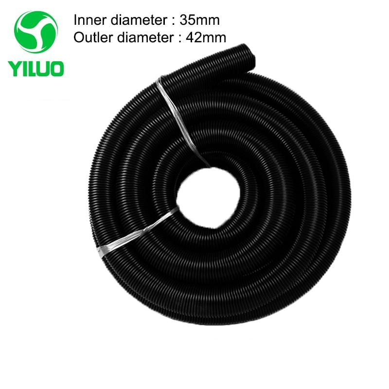 5m inner Diameter 35mm Outer Diameter 42mm Black EVA vacuum cleaner Hose with High Temperature for industrial Vacuum Cleaner vacuum pump inlet filters f007 7 rc3 out diameter of 340mm high is 360mm