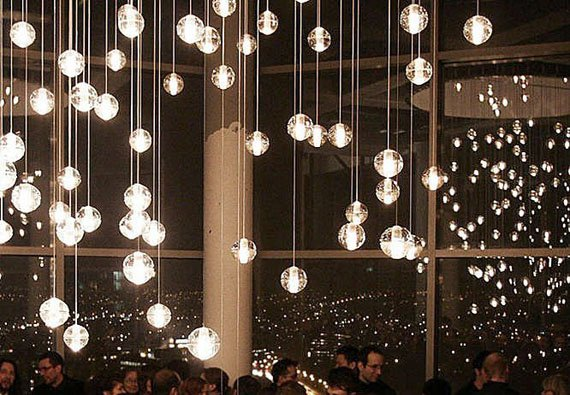 Bocci 14 26 Lights By Omer Arbel Clear Glass Pendant Meteor Shower Chandelier Lighting Rectangular