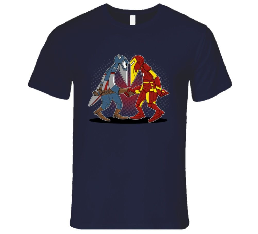 super hero vs super hero, funny cool design T Shirt