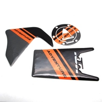 Motorcycle Carbon Fiber Tank Pad Cover Tank Gas Cap Pad Cover Protective Decal Stickers For KTM