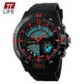 TTLIFE Esporte Militar Relógios Homens LED Digital Casual relógios de Quartzo Relógio De Mergulho 50 m Relógio Pulseira de Borracha marca de luxo relogio masculino