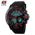 TTLIFE Sport Military Watches Men LED Digital Casual Quartz Watch Dive 50m Rubber Strap brand luxury Clock relogio masculino