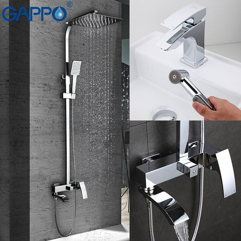 GAPPO Bathtub Faucets bathroom faucet Basin Sink Faucet mixer torneira Cold Hot Water Mixer tap grifo in hand shower set gappo bathroom faucet accessories faucet brass body bathtub sink mixer cold hot water restroom faucet in hand shower ga3007