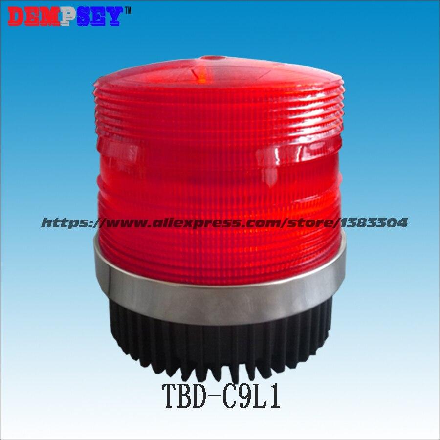 Dempsey Dc12v/24 V Rote Led Auto Lkw Magnetischen Warnlicht Flash Leuchtfeuer Polizei Strobe Notfall Lampe Beleuchtung Neueste Mode tbd-c9l1
