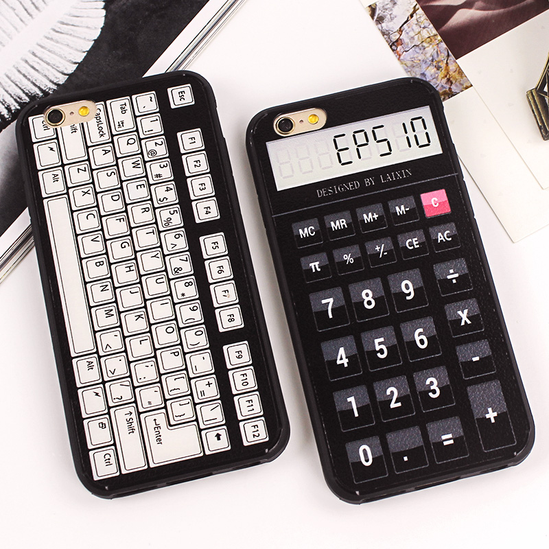 Luxury Vintage font b Calculator b font Cassette Recorder Silicon Gel Case Soft Phone Cover for