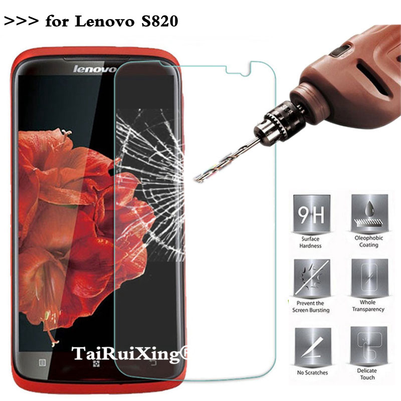 Tempered Glass For Lenovo S820 Screen Protector 2.5D 0.26mm 9H Protection Film For Lenovo S820 S 820 Tempered Glass