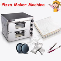 Electrical Steel Mini Baking Oven /Commercial Thermometer Double Pizza Oven/ Bread/Cake Toaster Oven PO2PT