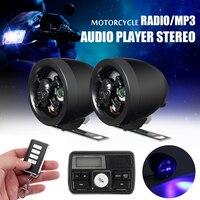 Anti theft Motorcycle Handlebar Audio System Alarm MP3 Player Speaker FM USB/SD