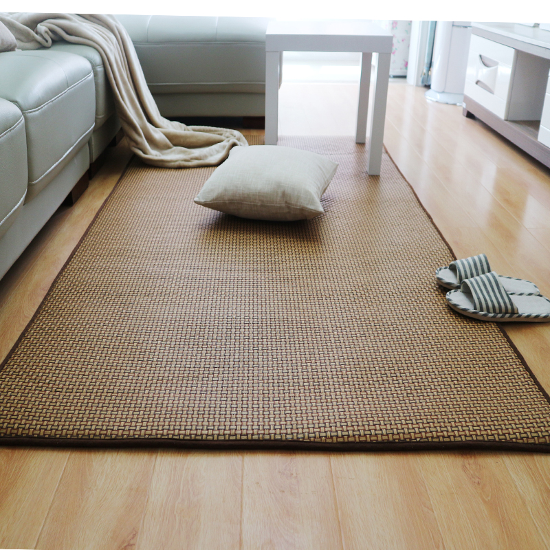 Japanese The Cane Carpet Baby Children Play Pad Thick Tatami Rug Carpet Summer Living Room The Bedroom Tapete Customized