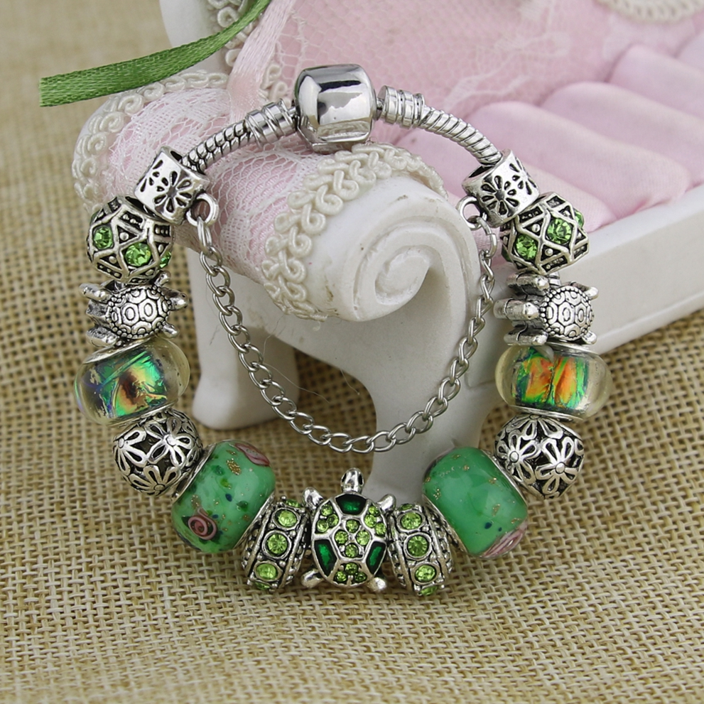 KEORMA Trendy Perhiasan Antik Warna Silver Sea Turtle Wanita Charm - Perhiasan fashion - Foto 4
