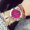 2016 Gold metal hour Quartz Watch Women Geneva Reloj Ladies Clock Relogio Metal wristwatch for women new Relogio Feminino