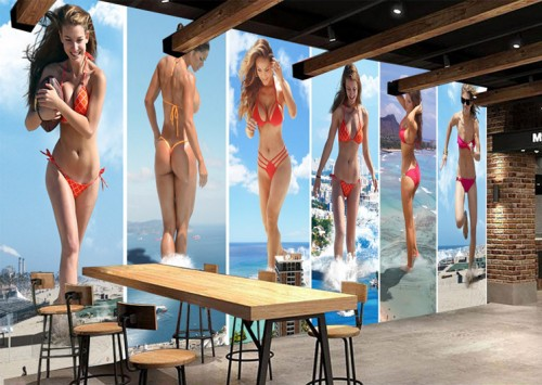 Photo wallpaper 3D Sexy beautiful woman mural living room sofa TV backdrop bedroom lobby coffee house restaurant wallpaper mural free shipping watercolor art living room lobby mural fashion salon shop clothing store restaurant lounge bar wallpaper