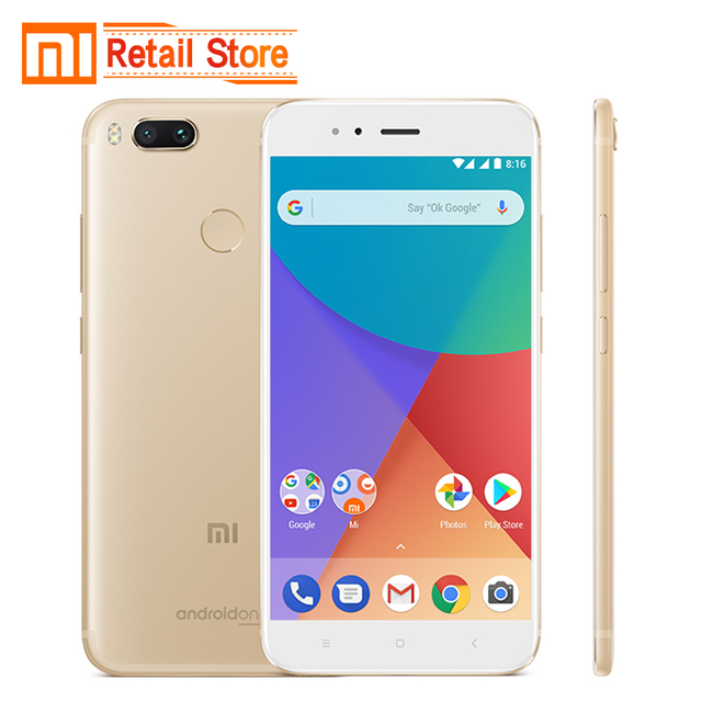 "Global Version Xiaomi Mi A1 12.0 MP Dual Camera 4GB 32GB 5.5"" Snapdragon 625 Octa CPU Smartphone Full Metal Body Android One OS"