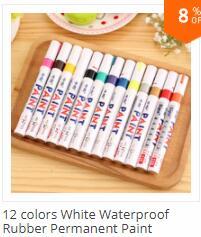 médio, marcadores de tinta de cor metálica