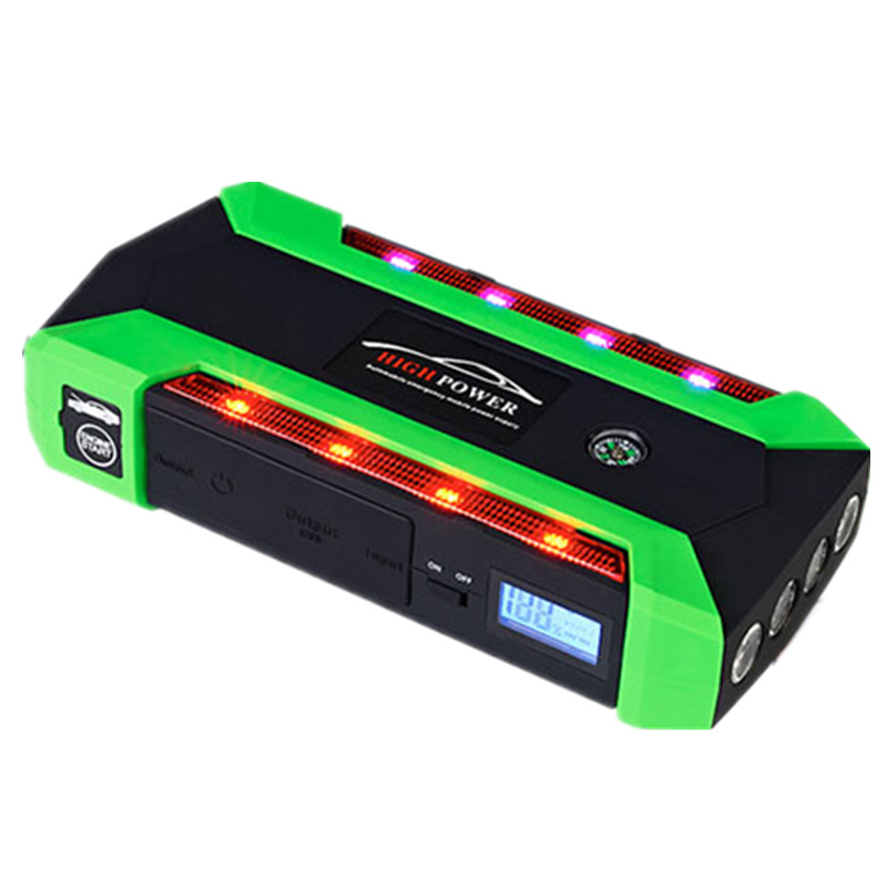 20000mAh Car Jump Starter 600A Peak Current Car Battery Power Pack 12V Green Light Strip Auto Charger Portable Starting Device