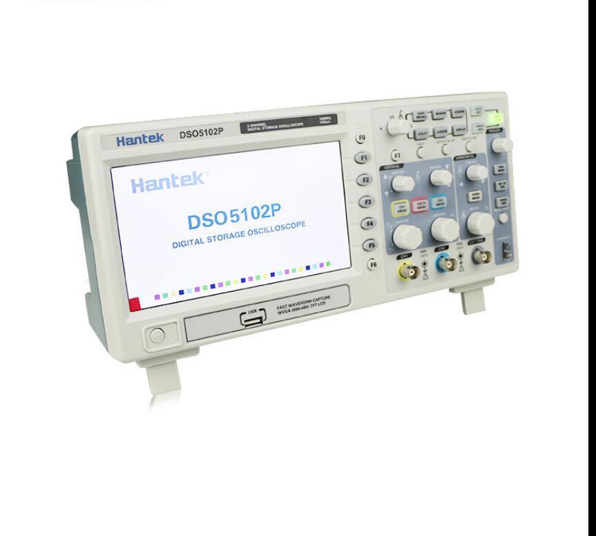 Hantek DSO5202P Digital Oscilloscope 200MHz 2Channels 1GS/s 7'' TFT LCD 800x480 Record Length 24K USB AC110-220V dso 150 2 0 lcd usb dual channel oscilloscope