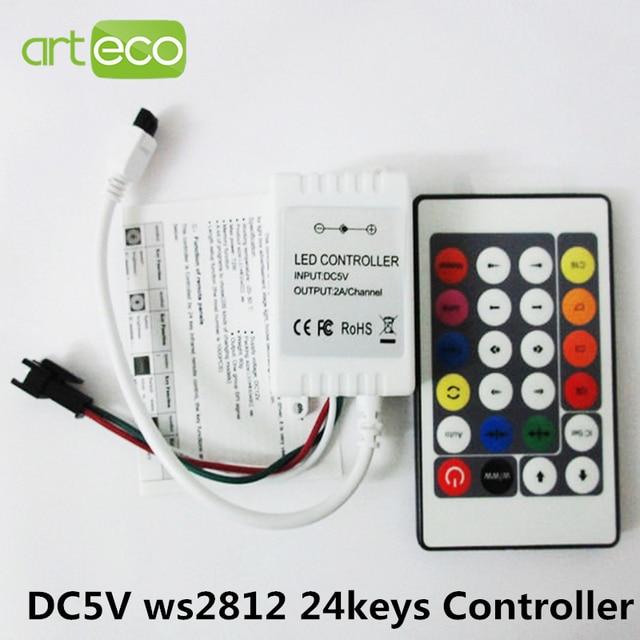 dc 5v ir remote controller for ws2812 rgb led strip test. Black Bedroom Furniture Sets. Home Design Ideas