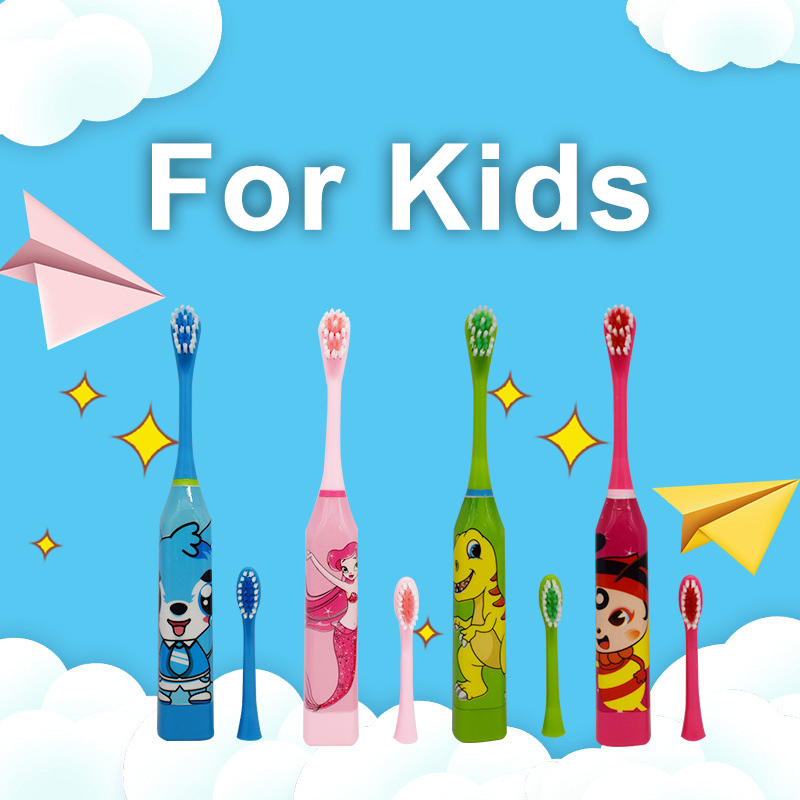 Children/Adults Sonic Electric Toothbrush Vibrator Tooth Brush Head Dental Kids Ultrasonic Battery Powered Waterproof Sonicare image
