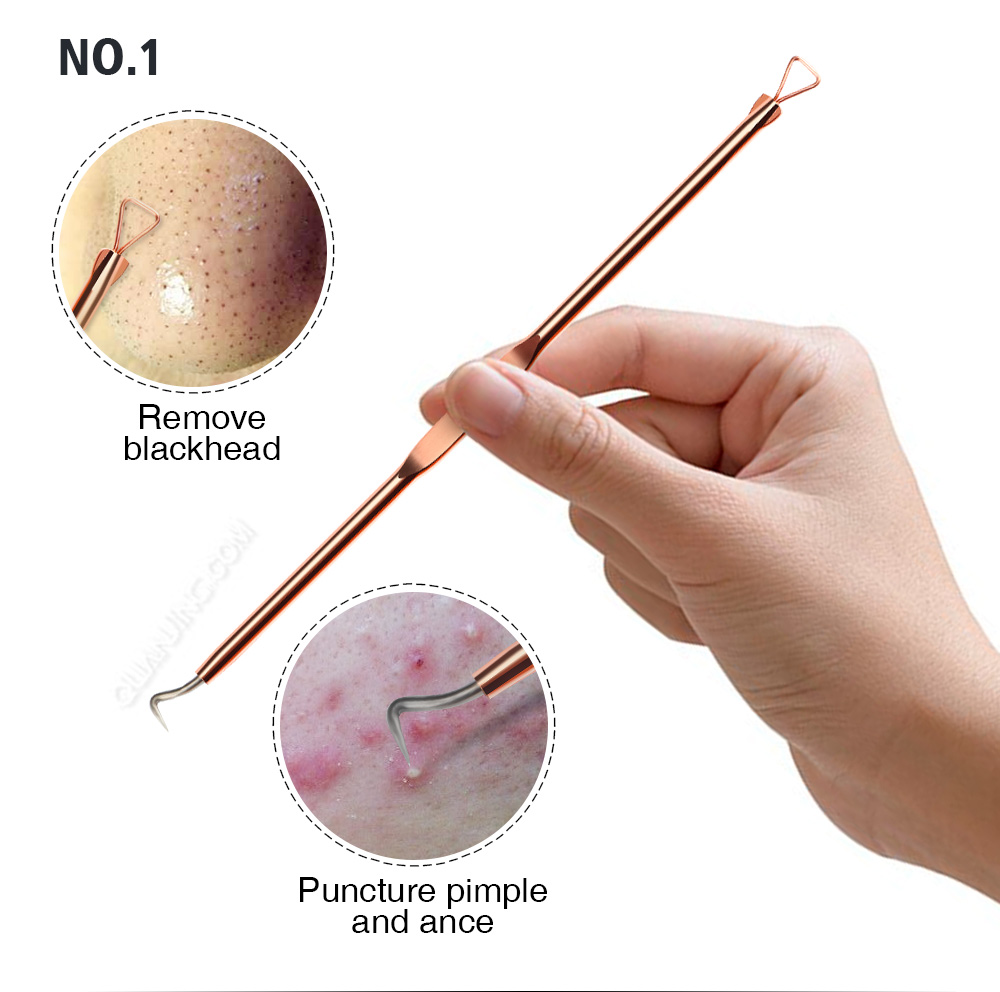 Beauty & Health ... Skin Care Tool ... 32796978341 ... 2 ... 4pcs Anti-Bacterial Double-ended Acne Needle Blackhead Remover Tool Stainless Steel Pimple Needle Facial Cleaning Tool Skin Care ...