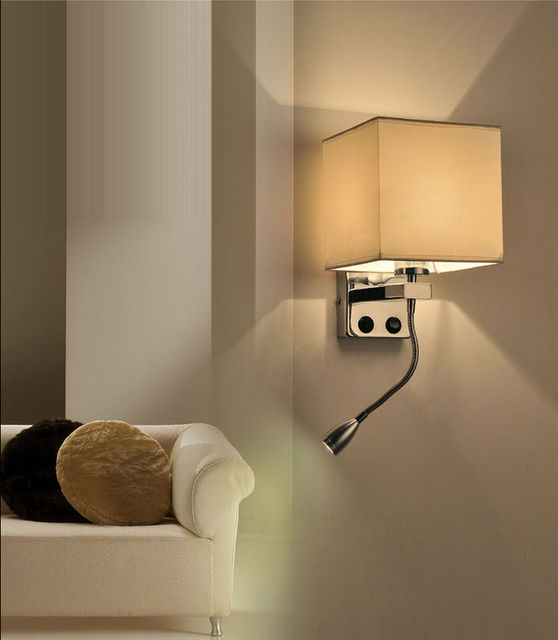 Modern 1 Led Wall Light Bed Lamp Reading Lighting Hotel Bedroom Aisle Veranda Fixture