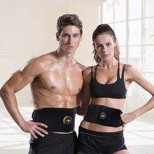 Брюшной Abs тонизирующий пояс Вибрационный фитнес-массажер для похудения ремни для тела электрический стимулятор мышц Тренажер поддержка талии