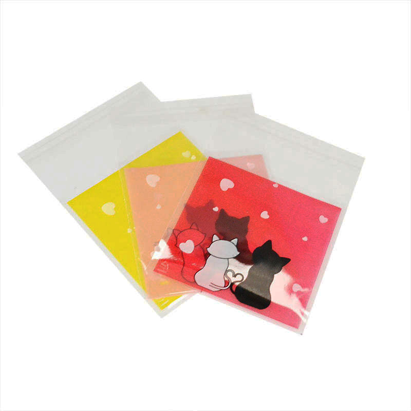 50Pcs/lot Cute Cartoon Cat Plastic Bag Transparent Cellophane Opp Baking Candy Cookie Gift Bag For Wedding Birthday Party Favors