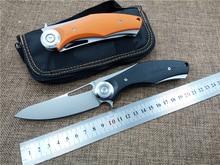 Складной тактический нож Темный Titanium Сплав + G10 ручка D2 шарик подшипника flipper ножи EDC выживания на улице