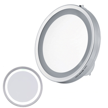 6 Inch 3X Magnification LED Suction Cup Light Cosmetic Mirror Makeup Bathroom