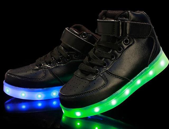 Led Licht Schoenen : Led pour children shoes with light up schoenen kids chaussure