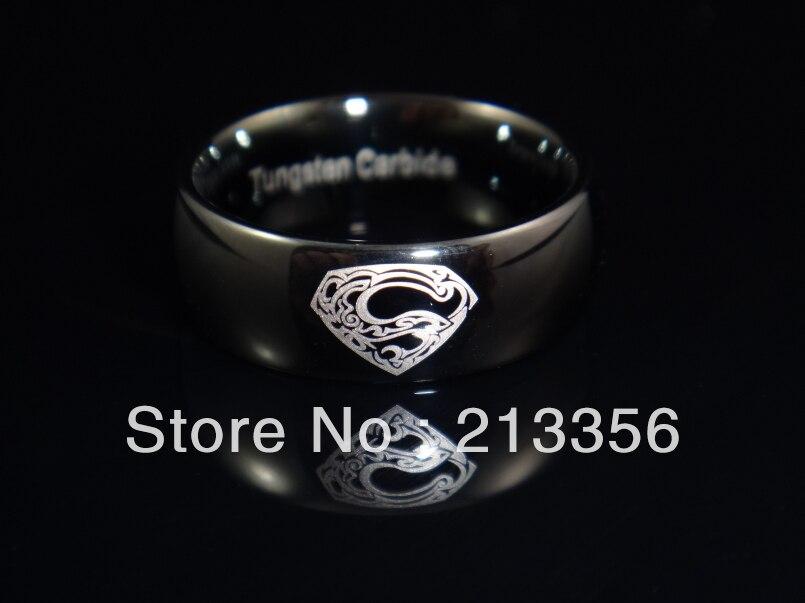 usa hot selling womenmens vintage superman tattoo logo design tungsten - Superman Wedding Rings
