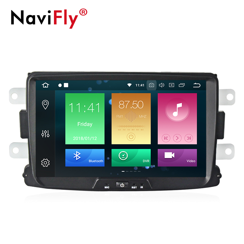 NaviFly Android 8.0 4GB PX5 Car dvd player radio audio for DUSTER Dacia LADA Captur Logan 2 Duster GPS Navigation