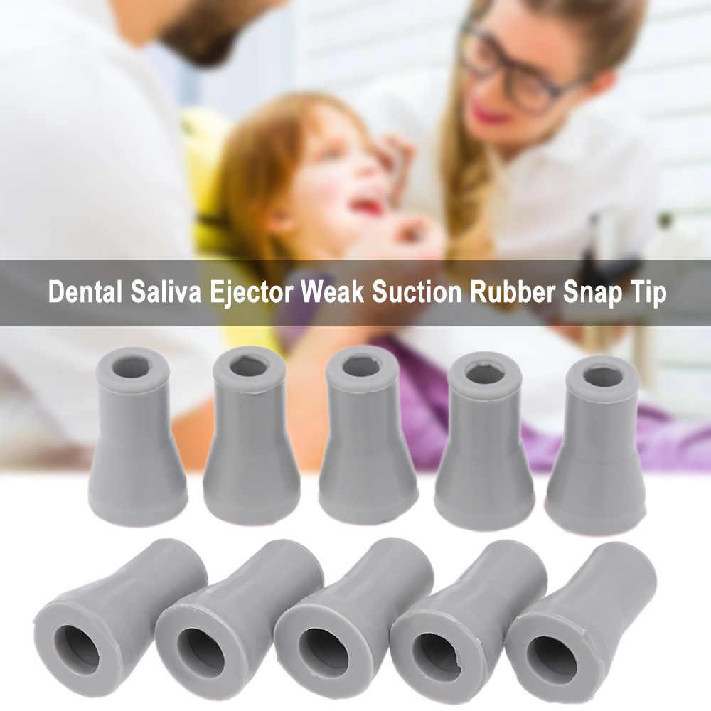 10 pz Dental Saliva Espulsione di Aspirazione Debole di Gomma Snap Punta di Adattatore di Ricambio di Sbiancamento Dei Denti
