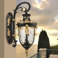 Zewnętrzna kinkiet w stylu europejskim zewnętrzne wodoodporne led retro ogród korytarz korytarz balkon zewnętrzna kinkiet ya71 ZL523 w Lampy ścienne od Lampy i oświetlenie na